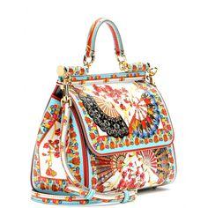 mytheresa.com - Miss Sicily Mini leather shoulder bag - Shoulder bags - Bags - Dolce & Gabbana - Luxury Fashion for Women / Designer clothing, shoes, bags