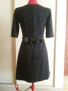 Dietro vestito broccato nero