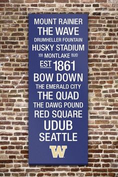 """Washington Huskies College Town Wall Art with Logo - 40"""" x 16"""" by College Town Subway Art on @HauteLook"""