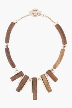 Marc by Marc Jacobs Wooden Necklace