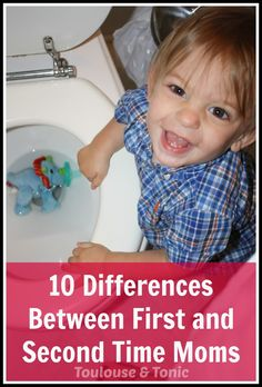 10 Differences Between First And Second Time #Moms - Toulouse and Tonic #parenting #humor