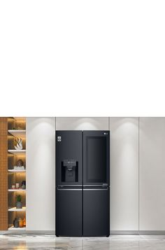 Buy LG 708L InstaView Door-in-Door French Door Fridge - Matte Black | Harvey Norman AU