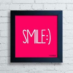 Quadro Decorativo Smile - Moldura Preta