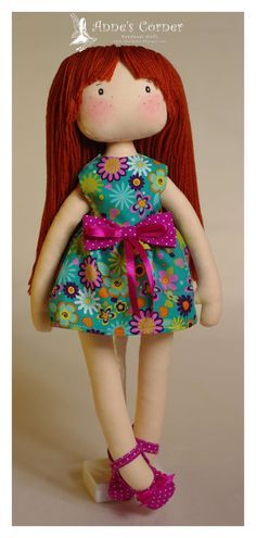 Susie muñeca de trapo hecha de mano por AnneCorner por AnneCorner