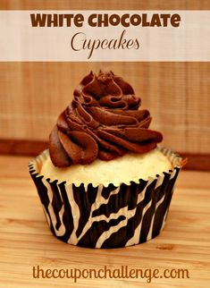It doesn't get much better than chocolate.  Unless you are like my husband and think white chocolate is best.  Give these White Chocolate Cupcakes a try.  They combine the best of both chocolaty worlds.