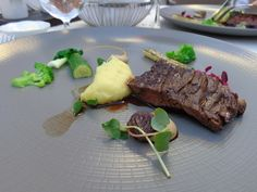 Roasted Black Angus beef flank with truffle-potato puree and Madeira sauce @ Restaurant Tchaikovsky @ Hotel Telegraaf