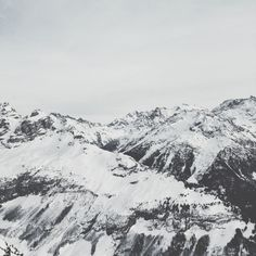 The journey is black & white. #mountains #switzerland #bwphoto #snow