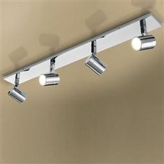 HiB has added four new low energy, LED bathroom light fittings to its already impressive array of LED bathroom lighting solutions. Momentum and Inertia – are designed to fit flush to the ceiling, whilst Trilogy and Quartet feature three, and four, multi- Bathroom Light Fittings, Bathroom Spotlights, Led Bathroom Lights, Bathroom Lighting, Bathroom Showrooms, Spot Lights, Big Bathrooms, Better Bathrooms, Kitchen Cabinets In Bathroom