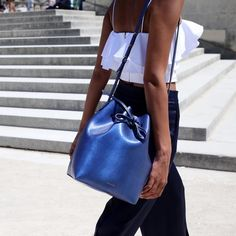 Mansur Gavriel x Colette LimitedEdition Bucket Bag Pre-owned but in great condition Mansur Gavriel x Colette Pony Hair Print Blue Bucket Bag. Bag sold out and is never being made again as it is a limited edition. Comes with dust bag and wallet. Mansur Gavriel Bags