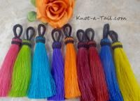 Horse Hair Tassel, tassels,  natural or deep rich colors from Knot-a-Tail.com