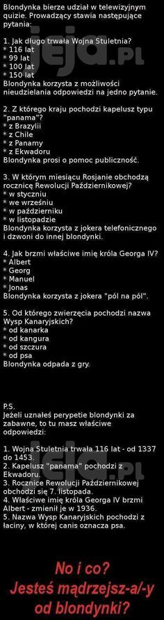 Czy jesteś mądrzejszy od blondynki? Wtf Funny, Funny Memes, Jokes, All The Things Meme, Funny Stories, Man Humor, Sad Quotes, Sentences, Life Lessons