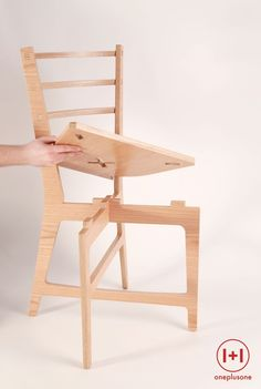 One plus One chair, assembly under 60 seconds no screws no glue. Design by Cyrille Najjar - Easy Diy Furniture Cnc Wood, Wood Joinery, Plywood Chair, Plywood Furniture, Cool Furniture, Cardboard Chair, Space Furniture, Furniture Design, Folding Furniture