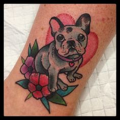 frenchie tattoo by till dee