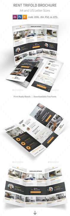 Rent Trifold Brochure by Mike_pantone *Save with Bundle! Rent Print Bundle is also available.Rent Trifold Brochure Clean and modern tri-fold brochure for your apartment