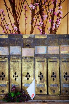 1914 Metal Mail Boxes