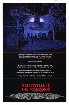 Amityville II: The Possession (1982) Stars: James Olson, Burt Young, Rutanya Alda, Jack Magner, Andrew Prine, Diane Franklin ~ Director: Damiano Damiani