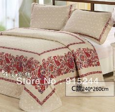 Find More Information about white green blue bedspread rustic rose ... : discount cotton quilts - Adamdwight.com