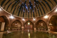 A bath without hotspring - Kiraly bath Budapest Király Bath is the only thermal bath of Budapest, which was not built over a hot spring. Moreover, the only bath, which was really built by Turks. Hungary, Budapest, Bathing, Coastal, City, Building, Water, Image, Places