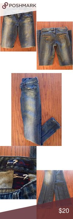Seven7 Skinny Jeans Excellent used condition skinny jeans by Seven7. No signs of wear at the bottom or around the zipper but the back tag is faded. Seven7 Jeans Skinny
