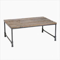 """$349 """"Made from reclaimed railway timbers"""". I feel like this would look better and better over time."""
