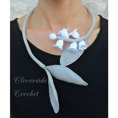 crocheted necklace, crocheted choker, floral romantic necklace, bridal... (€50) ❤ liked on Polyvore featuring jewelry, necklaces, floral choker, floral necklace, bride jewelry, bridal necklace and white choker necklace