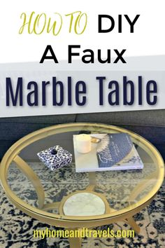 What do you do when you find the perfect coffee table but it's $400 and you can't spend that much? I'll show you how to DIY A Faux Marble Coffee Table for a whole lot less. And I'm just as happy with it.