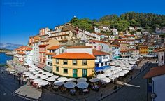 Cudillero – a Lovely Village in Asturias, Spain Images) Tilt Shift Photography, Asturias Spain, Spain Images, Beautiful Places In The World, Urban Planning, National Parks, Places To Visit, Around The Worlds, Hotels