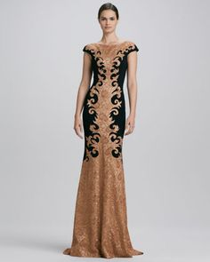 Baroque Lace #Gown by Theia #dress