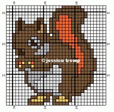 borduren kruissteekpatronen cross-stitching pattern (39) Beaded Cross Stitch, Cross Stitch Charts, Cross Stitch Designs, Cross Stitch Embroidery, Cross Stitch Patterns, Ssk In Knitting, Knitting Charts, Seed Bead Crafts, Especie Animal
