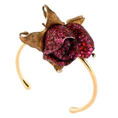 JAR – A Fire Opal and Ruby 'Rose Bud' Bracelet