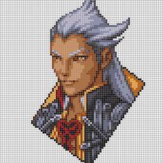 Ansem - Kingdom hearts perler pixel patetrn by 8bitofeverything