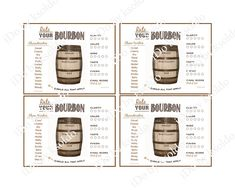 Bourbon Rating Sheet Bourbon Score Card Bourbon Party by ksoldo, $6.00