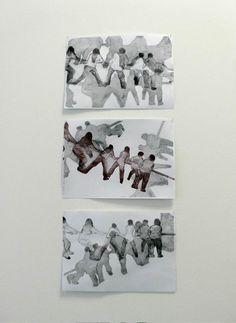 """Exhibition view """"En mouvement"""". 2013. september. M.Dib. Lille"""