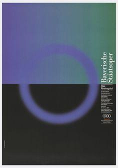 Poster, Bayerische Staatsoper:   Das Rheingold Richard Wagner, 2002