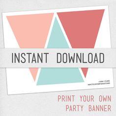Print Your Own Chalkboard Pennant Banner DIY by DaydrifterDigital ...