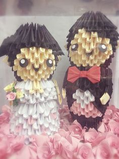 The wedding couple was made for my cousin as a wedding gift.