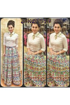 Bollywood Style - Party Wear Multi-Colour Shirt With Lehenga - 519 Long Skirt With Shirt, Lehenga Style, Lehenga Suit, Stylish Dresses, Casual Dresses, Traditional Skirts, Indian Skirt, Bollywood Fashion, Bollywood Style