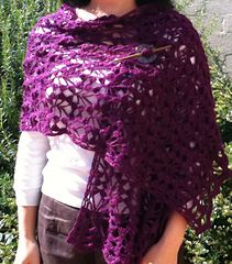 Mist Stole - free crochet pattern by Cathy Johnson. 4ply yarn and 4.5mm hook. Over 150 Ravelry projects to see.