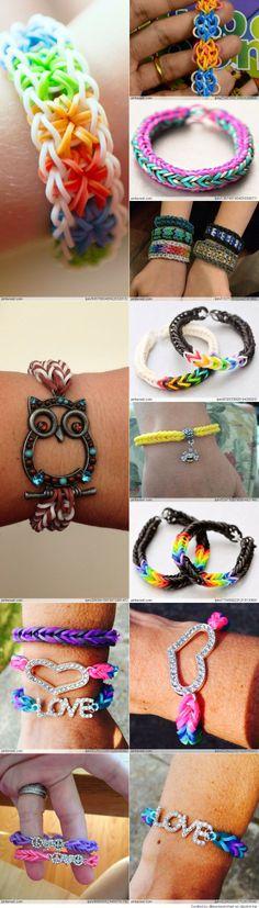 Amazing Rainbow Loom Ideas- good ideas for my nieces!!!
