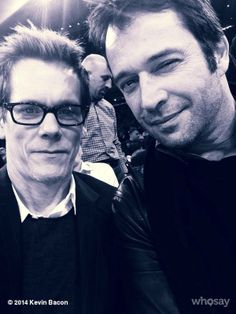 Kevin Bacon with co-star James Purefoy  Source ---> https://www.facebook.com/KevinBacon