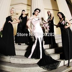 vestido de noiva renda sem manga New Design Sexy Mermaid Black And White Wedding Dresses 2016 Backless Sweetheart Bride Dresses