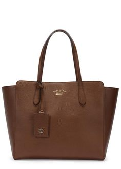 Gucci brown grained leather tote