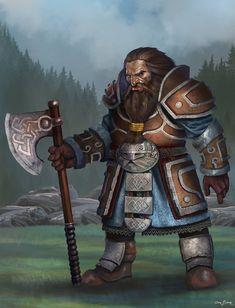 Dwarf Warrior by bakarov.deviantart.com on @DeviantArt