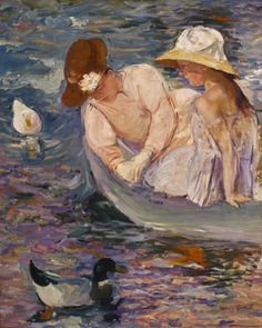 Mary Cassatt, Summertime, exhibited in Giverny Museum exhibition, American Impressionism: A New Vision - March 28 - June 29, 2014
