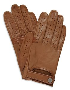 Dunhill Perforated leather driving gloves, $325