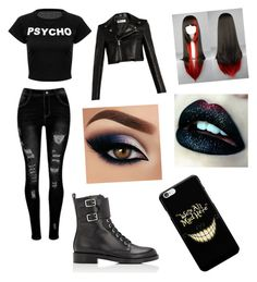 Designer Clothes, Shoes & Bags for Women Cute Goth Outfits, Bad Girl Outfits, Mode Outfits, Grunge Outfits, Outfits For Teens, Girls Fashion Clothes, Girl Fashion, Fashion Outfits, Creepypasta Oc