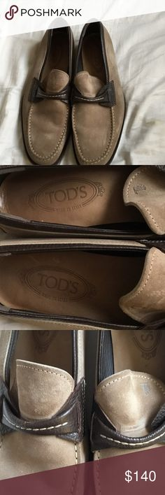 Men's Shoes Tod's Men's Shoes. Tan Color/Suede w/Brown Leather Trim. Moderate wear on soles. Tod's Shoes Loafers & Slip-Ons