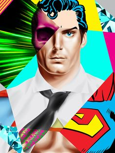 'O Superman' (vector drawing) from the Diamond Life Collection