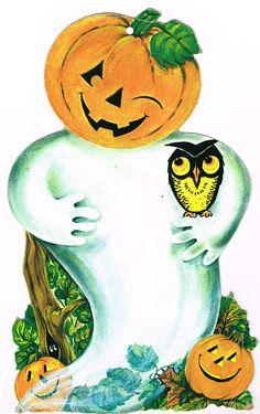 Halloween Eve, Halloween Artwork, Halloween Ghosts, Vintage Halloween, Halloween Crafts, Happy Halloween, Halloween Decorations, Halloween Stuff, Halloween Ideas