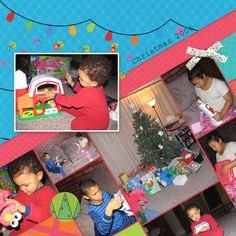 Family Album 2006: Christmas love the template used on the layout.